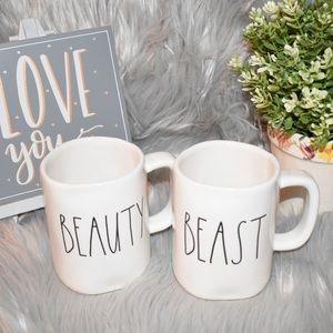 Rae Dunn Beauty & Beast Mugs